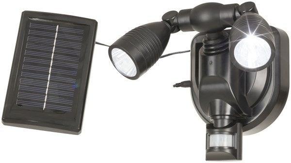 Techlight Solar Rechargeable Spot Lights PIR Sensor Cool White Wall Light