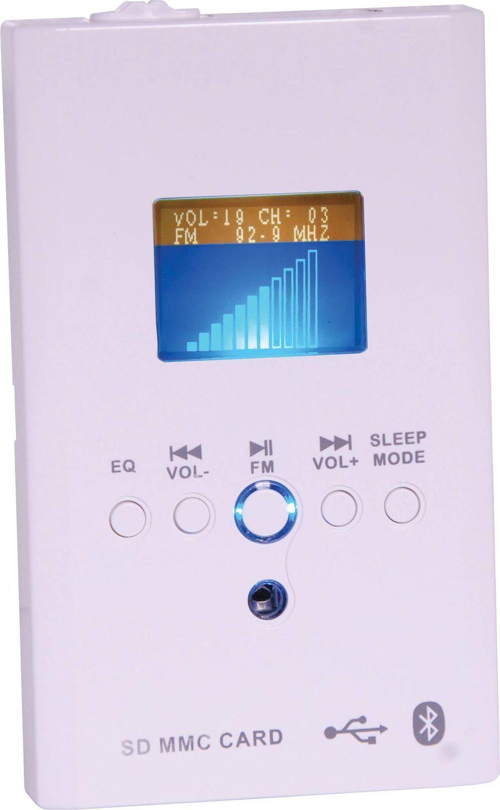 Bluetooth Amplifier FM Radio SD and USB Player Wallplate 2x15W
