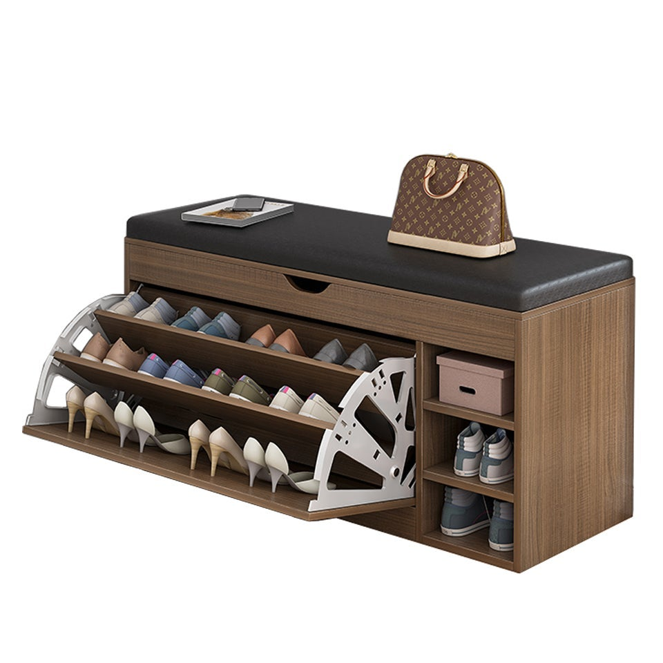100cm Stool Rack Storage Box Cupboard Organiser Shelf Shoe Cabinet Bench