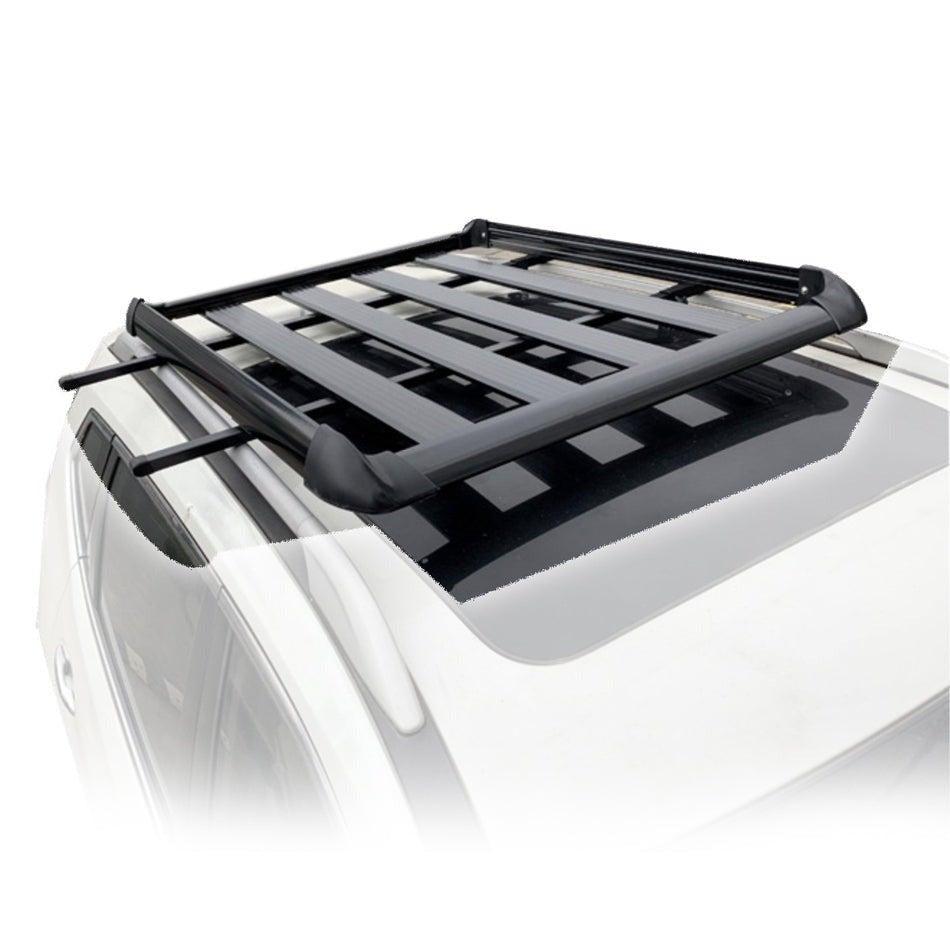 160*100 Black Single Aluminium Alloy SUV 4x4 Roof Rack Basket Cargo Luggage Carrier Box