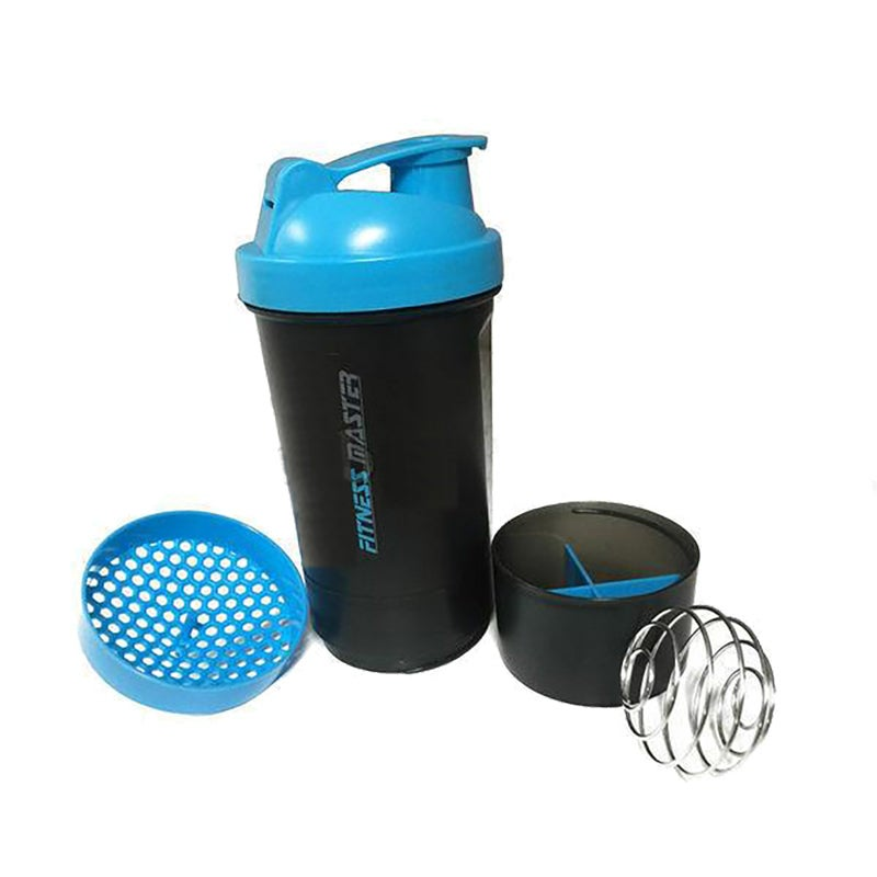 2X 3in1 GYM Protein Supplement Drink Blender Mixer Shaker Shake Ball Bottle Cup