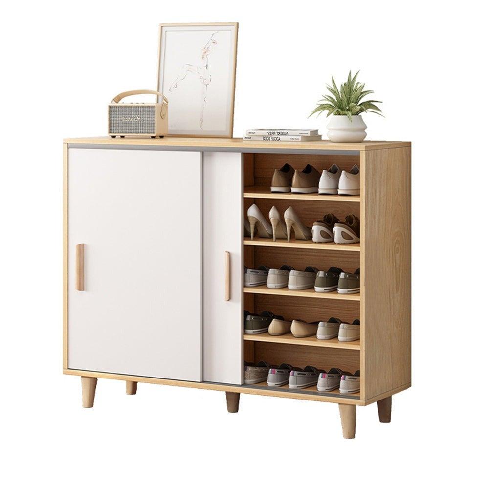 90cm Shoe Cabinet Shoes Storage Rack Organiser Wooden Shelf Drawer 20 Pairs
