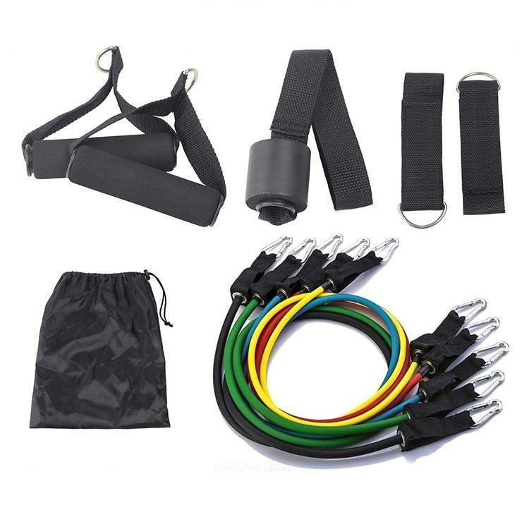 Heavy Duty Latex 11PCS Resistance Band Tube Power Gym Yoga Training Fitness