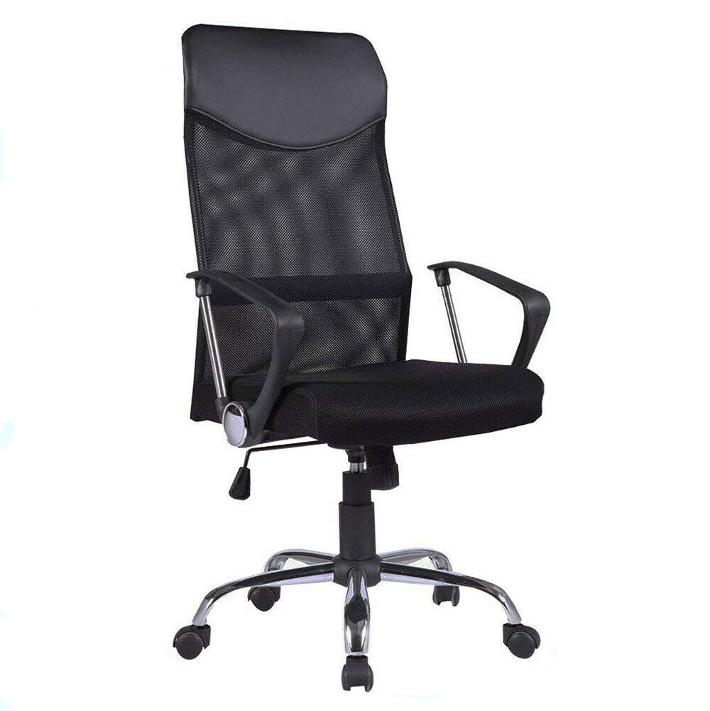 PU High Back Executive Mesh Home Office Game Chair Computer Breathable Lumbar Support Swivel Lift