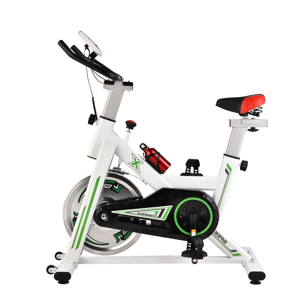 White Colour Exercise Spin Bike Home Gym Workout Equipment Cycling Fitness Bicycle 8kg Wheels
