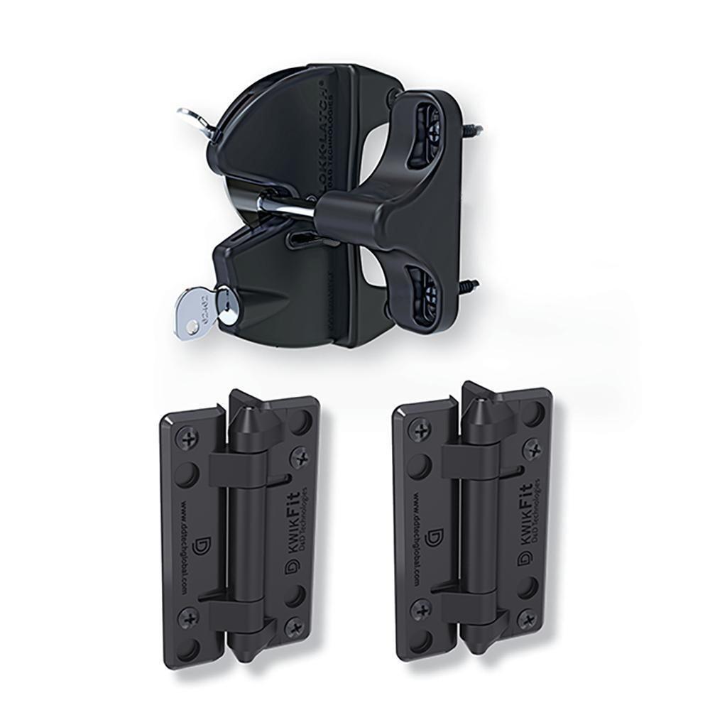 D&D Gate Lock Kit LLAAKFPK LokkLatch Single Side KwikFit Non-Tensioned Hinge