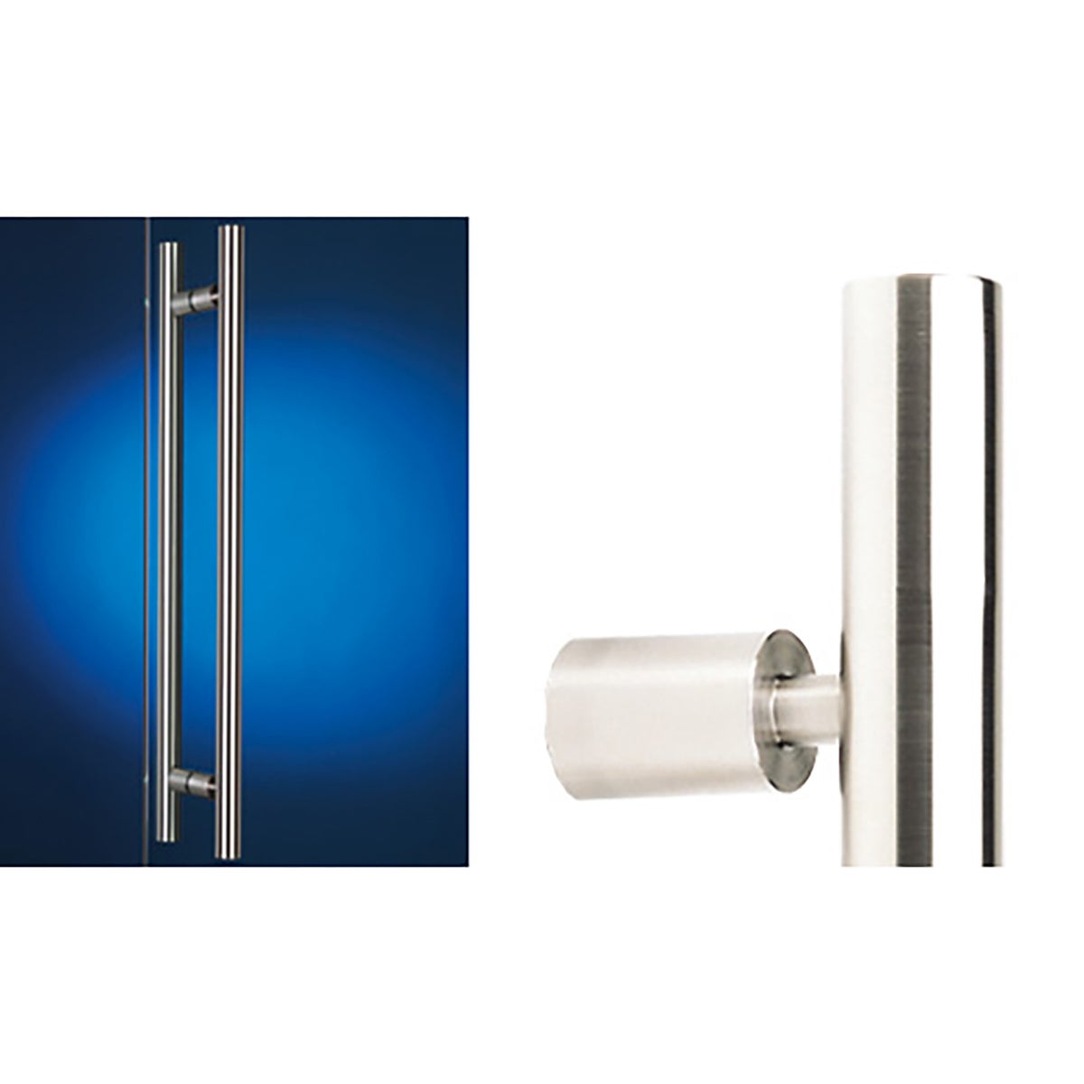 Madinoz 6400 Round Entry Handle Back To Back Satin Stainless Steel 500mm