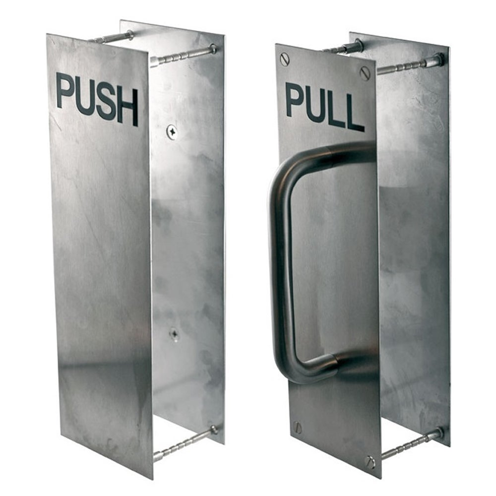 RiteFit Push Pull Plate PH-PP-2ESS 300x100mm Back To Back Stainless Steel