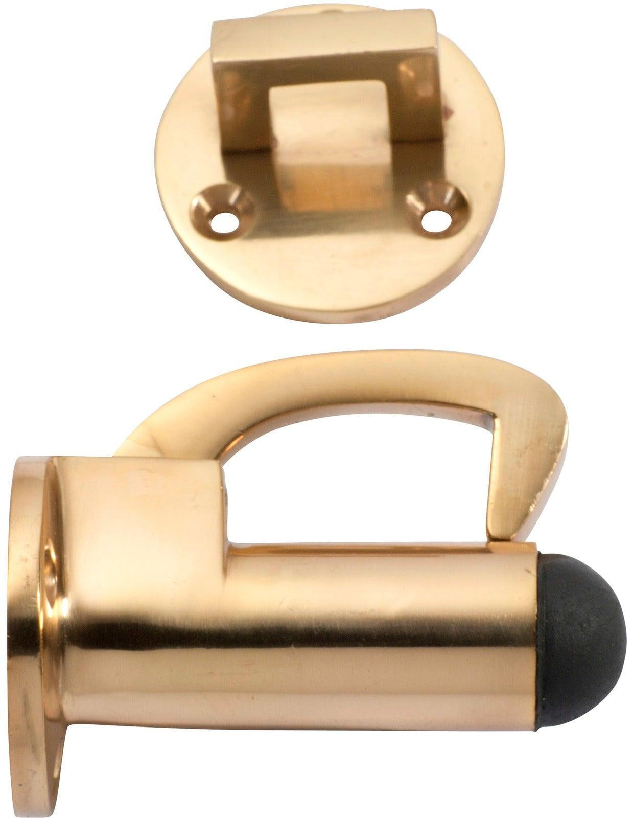 Tradco 1511PB Hook Door Stop Polished Brass P70 D39mm