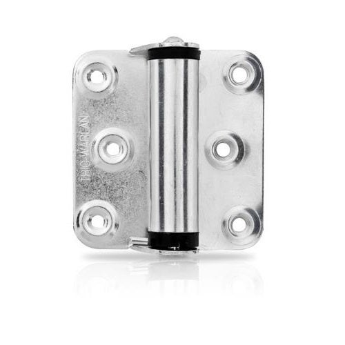 Trio BWL45BZ Spring Door Hinge Single Plated Blister 76x68x2mm Twin Pack