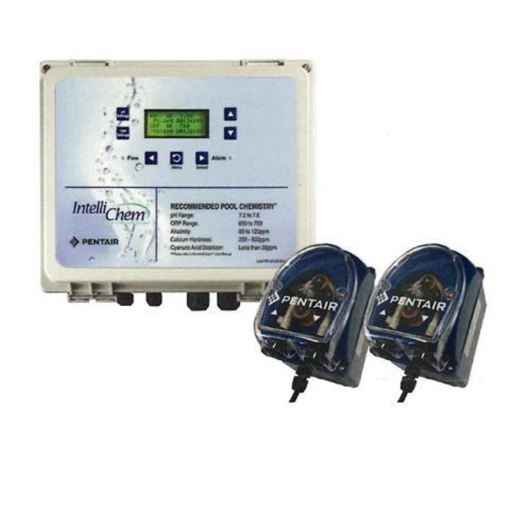 Pentiar IntelliChem Chemical Controller Pool Sanitizer with Two Dosing Pumps