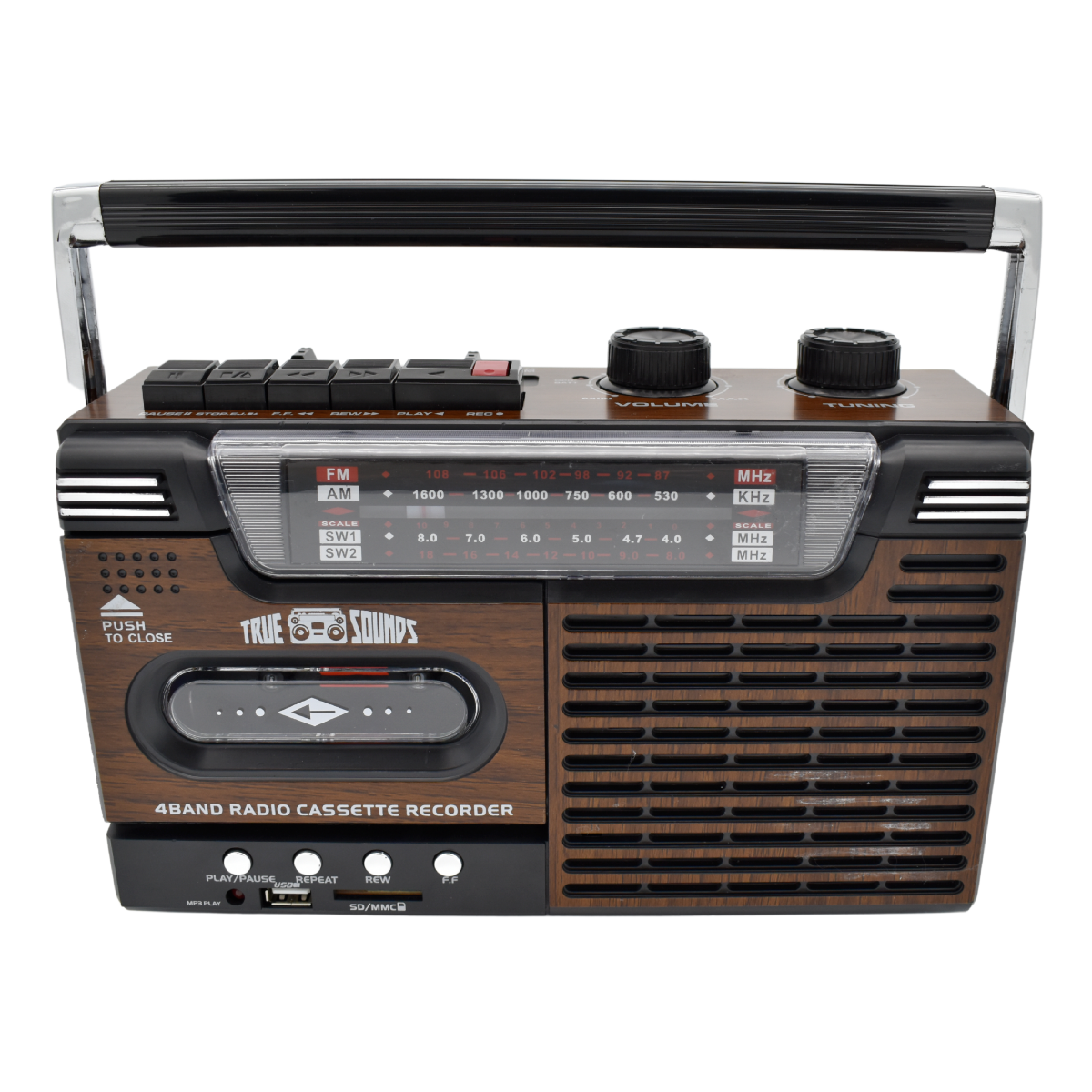 True Sounds 80s Funk Portable Radio And Cassette Player