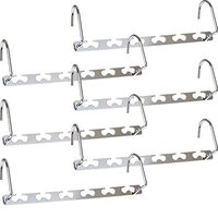 Metal Magic Hangers, 6 Pack Closet Organizer Space Saving Clothing Hangers