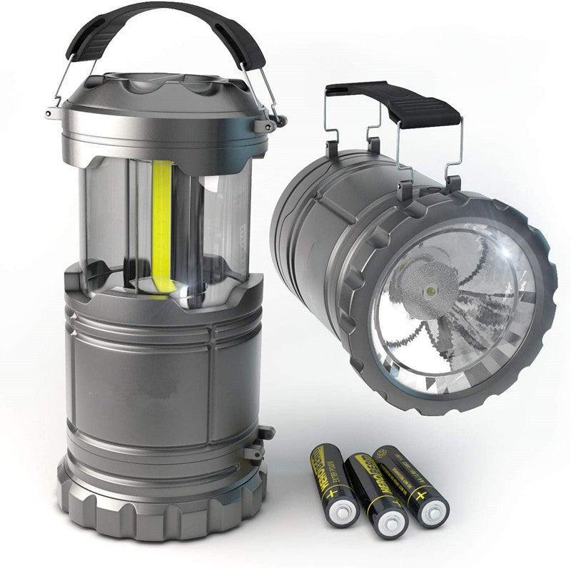 2 Pack LED Portable Lanterns with Magnetic Base, COB LED Camping Lantern Flashlights
