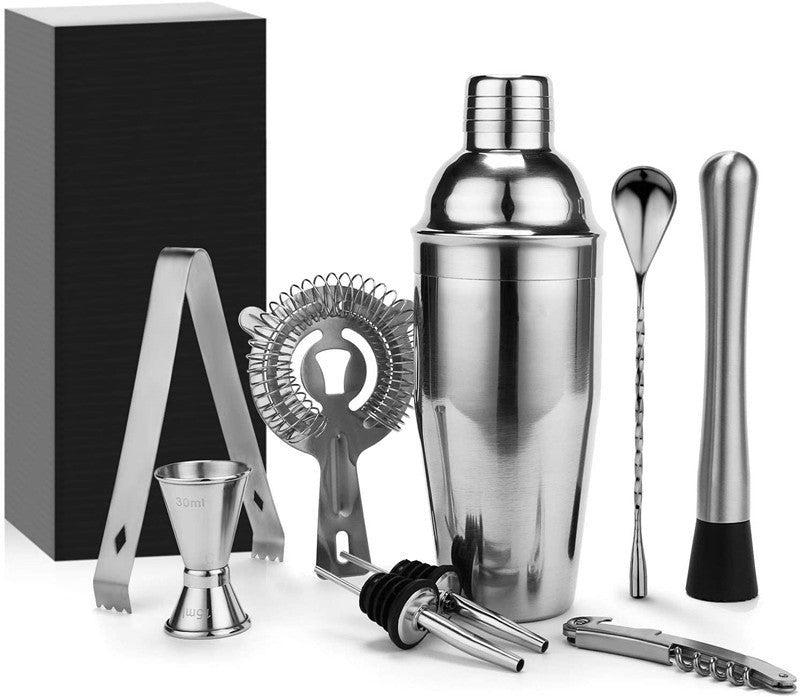 9Pcs Cocktail Shaker Set and Bar Tool Set, Stainless Steel Blender
