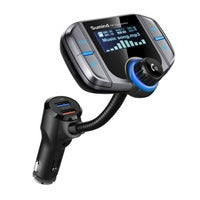 Car Bluetooth FM Transmitter, Wireless Radio Adapter Hands-Free Kit with 1.7 Inch Display