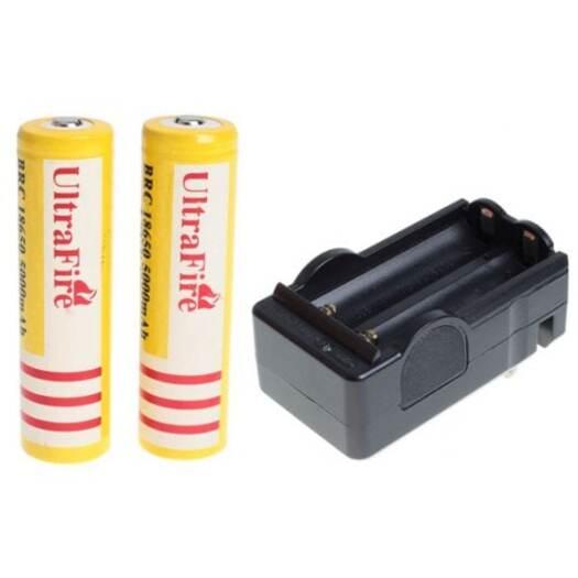 UltraFire 18650 3.7V 5000mAh Li-ion Rechargeable Battery 2PCS