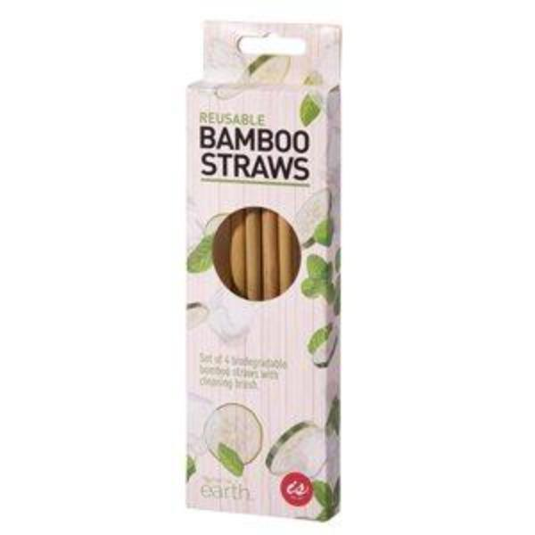 IS GIFT REUSABLE BAMBOO STRAW(SET OF 4)