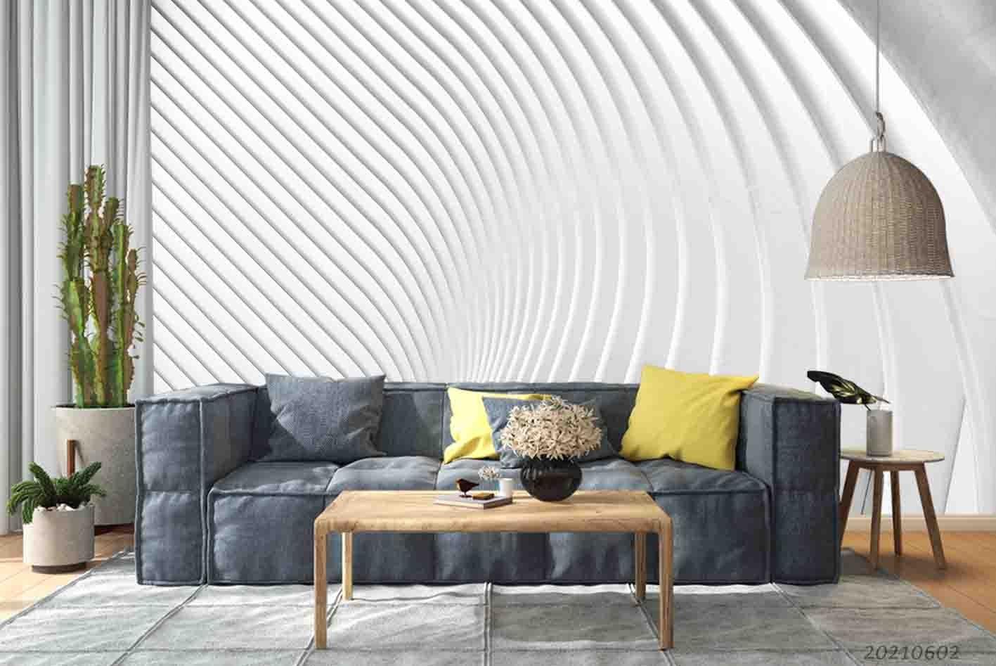 3D Artistic Relief Effect Elegance Gypsum Wall Mural Wallpaper SWW874