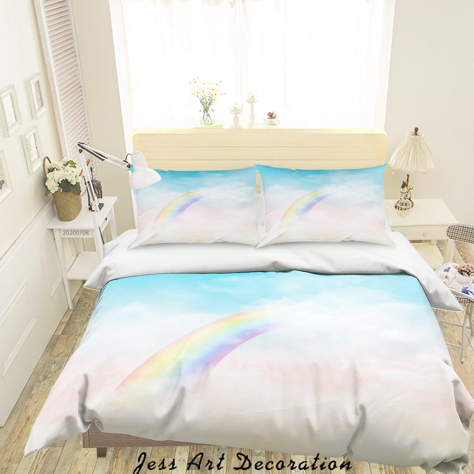 3D Blue Rainbow Quilt Cover Set Bedding Set Duvet Cover Pillowcases SF05