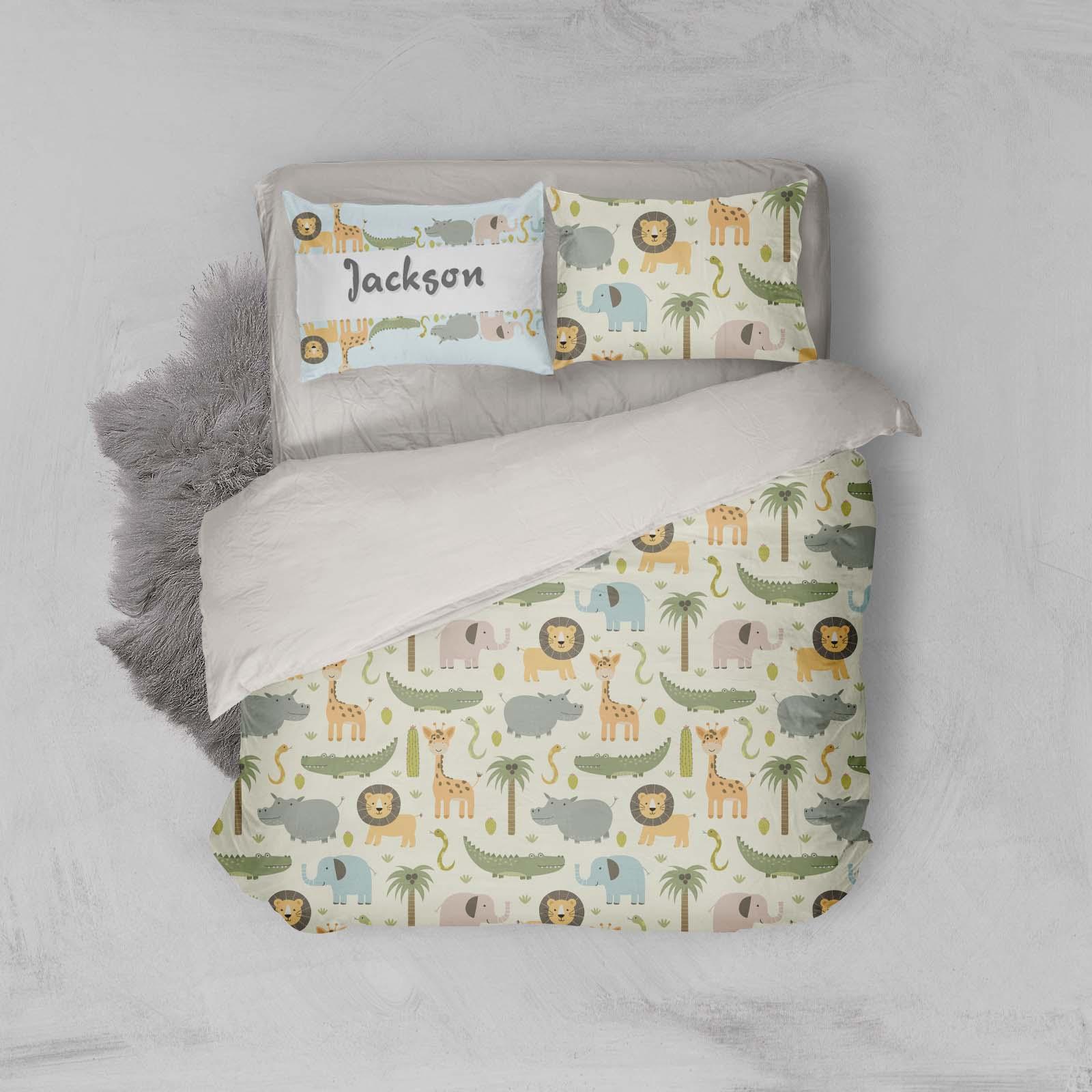 3D Cartoon Animal Quilt Cover Set Bedding Set Pillowcases 02