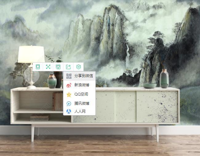 3D Chinese Style Abstract Landscape Ink Scenery Wall Mural Wallpaper SWW2750