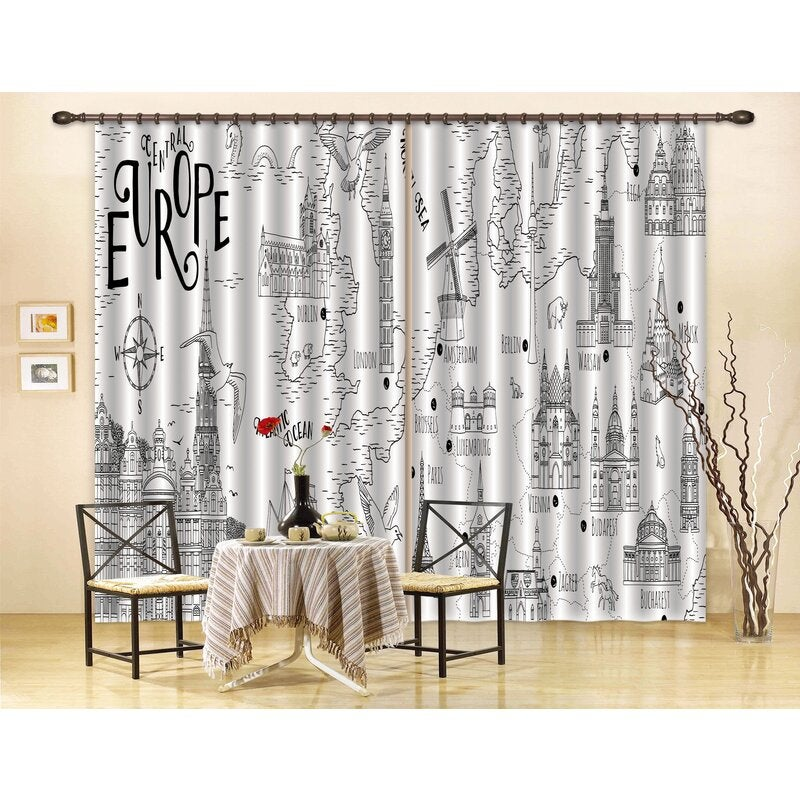 3D European Style Castle Curtains and Drapes LQH A524