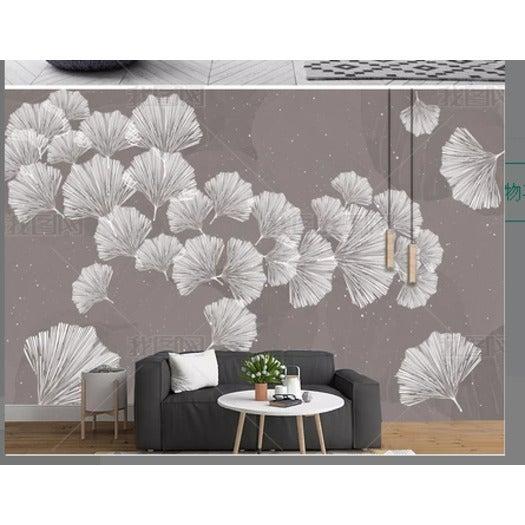 3D Ginkgo Leaves Wall Mural Wallpaper 164