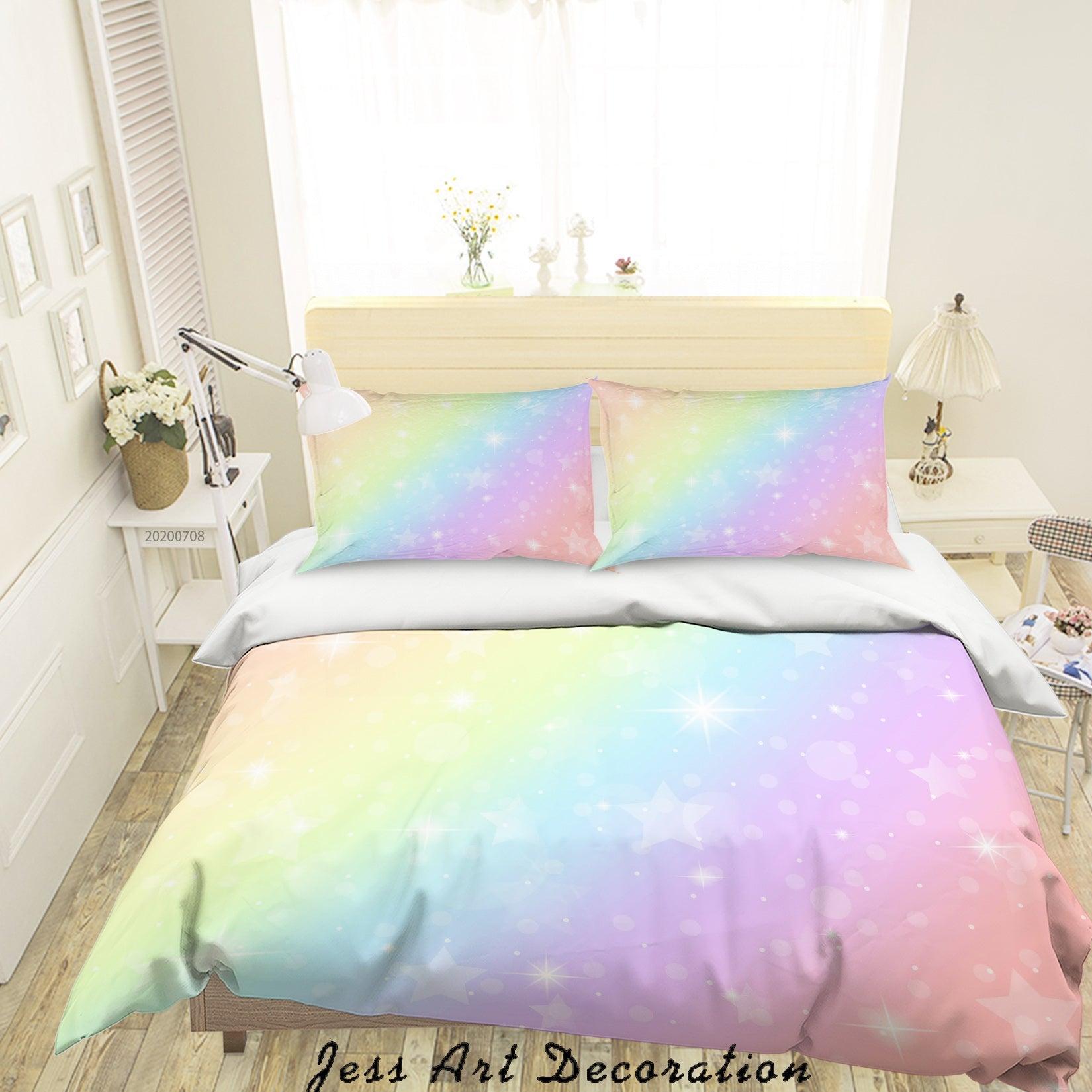 3D Gradient Star Quilt Cover Set Bedding Set Duvet Cover Pillowcases SF03