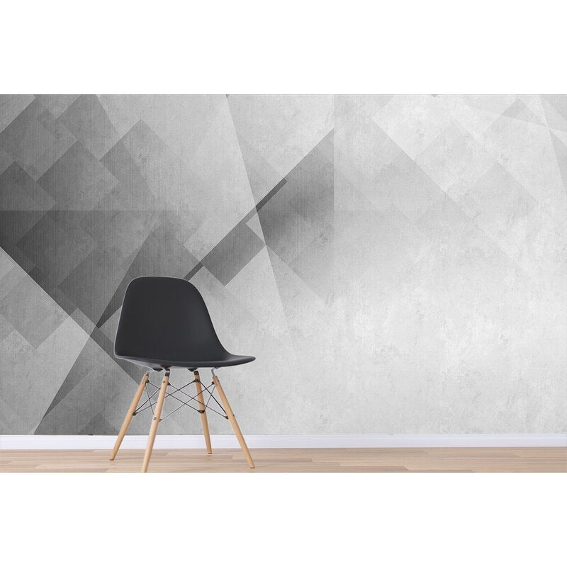 3D Gray Abstract Geometry Wall Mural Wallpaper SF45