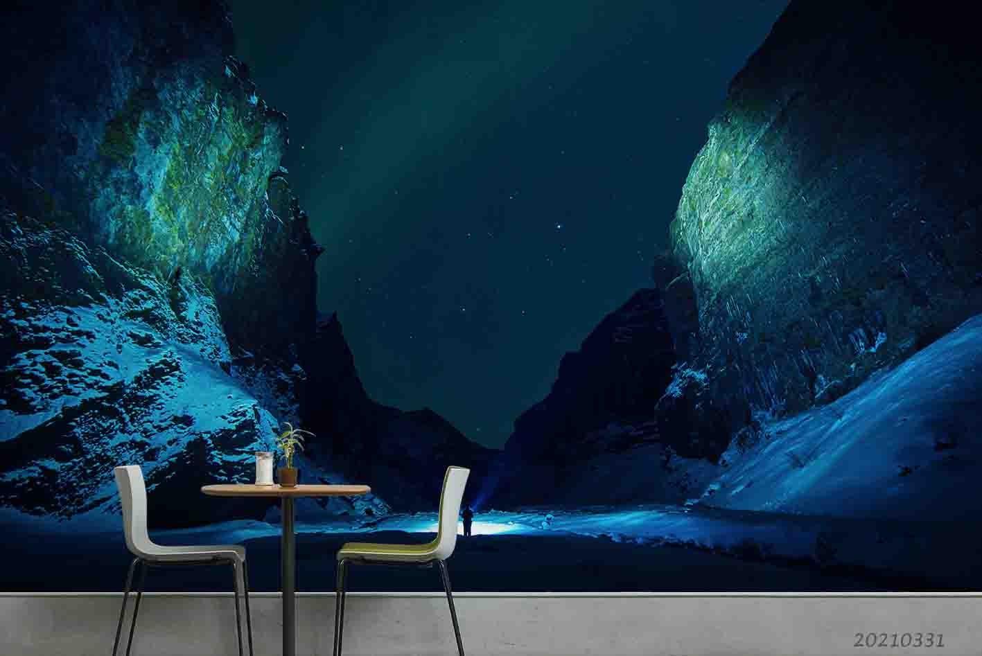 3D Mountain Nature Landscape Wall Mural Wallpaper LQH 442