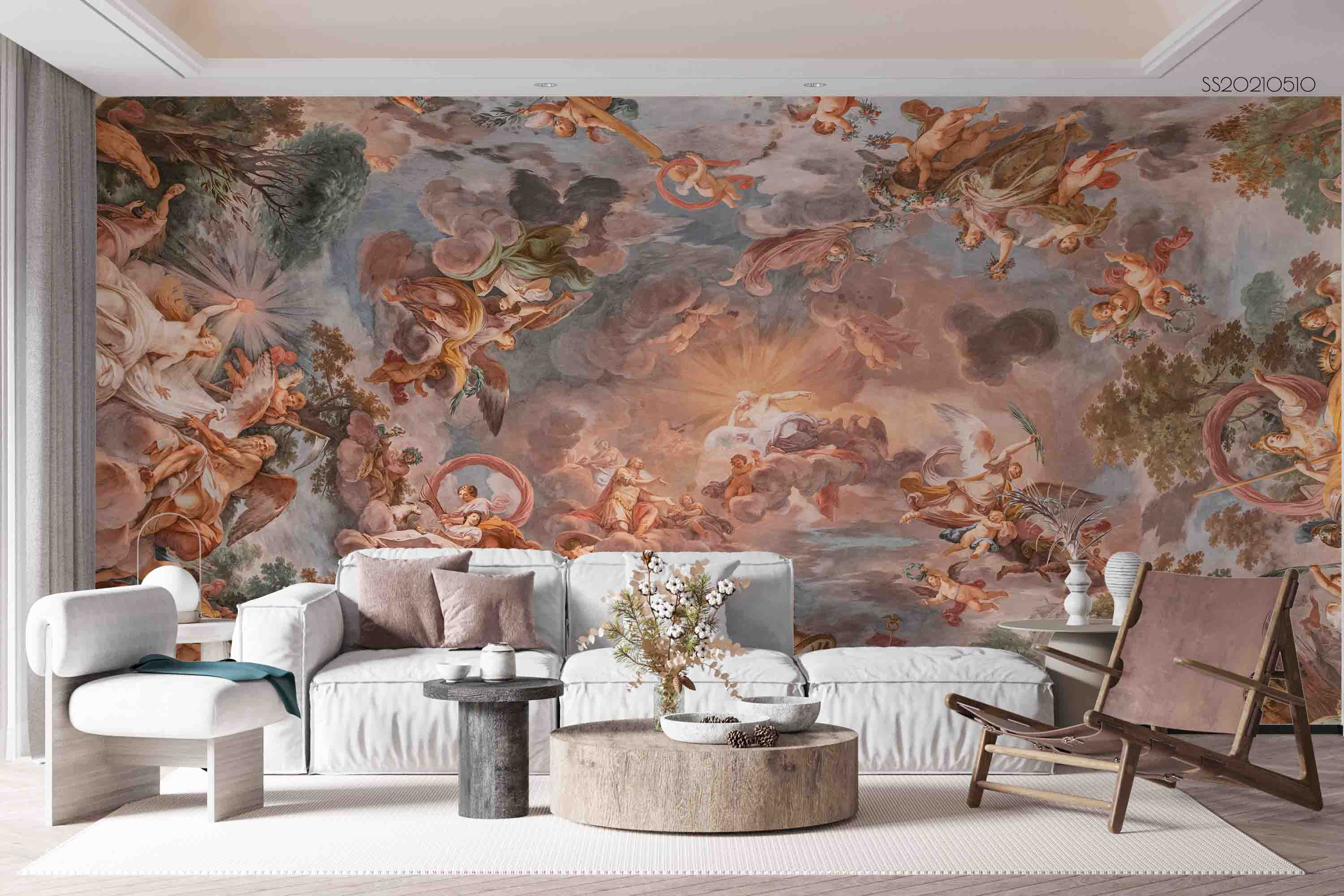 3D Religious Background Wall Mural Wallpaper LQH 301