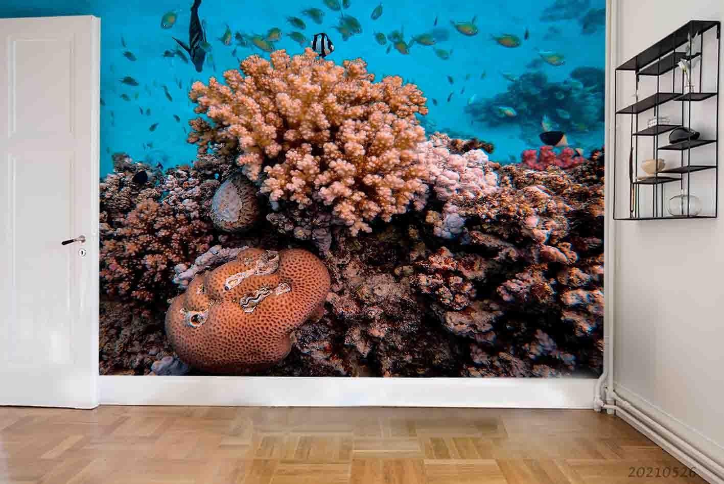 3D Sea World Fish Coral Wall Mural Wallpaper SWW314