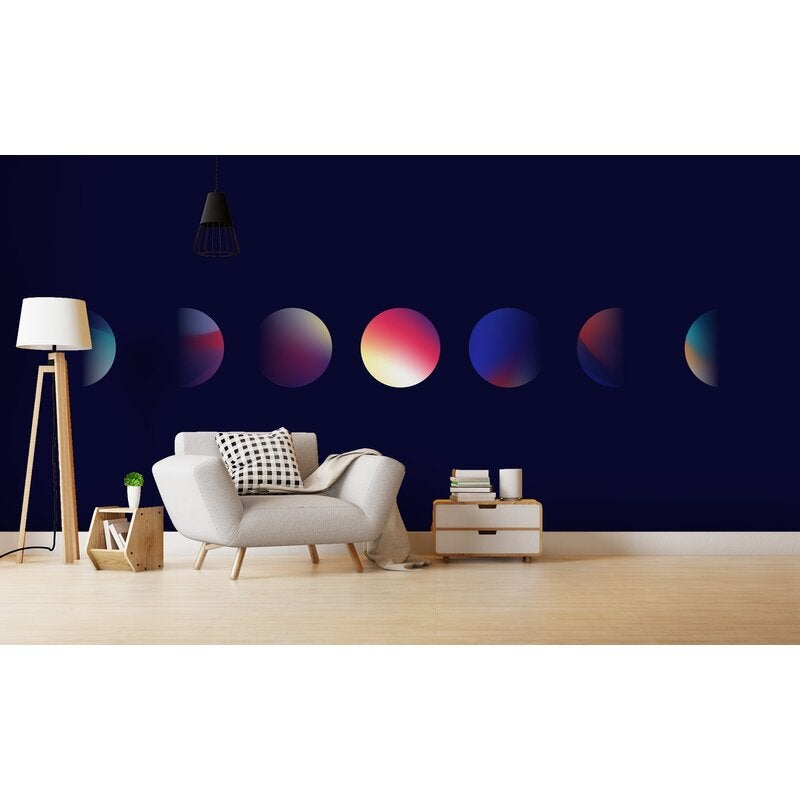 3D Space Planets Wall Mural Wallpaper 68