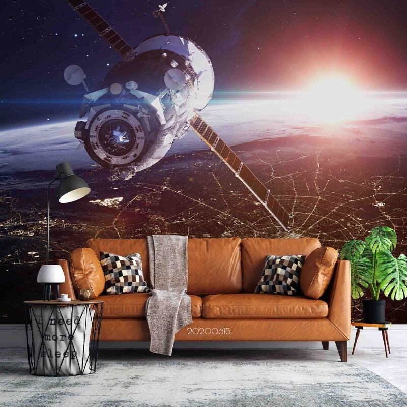 3D Space Station Wall Mural Wallpaper A053 LQH