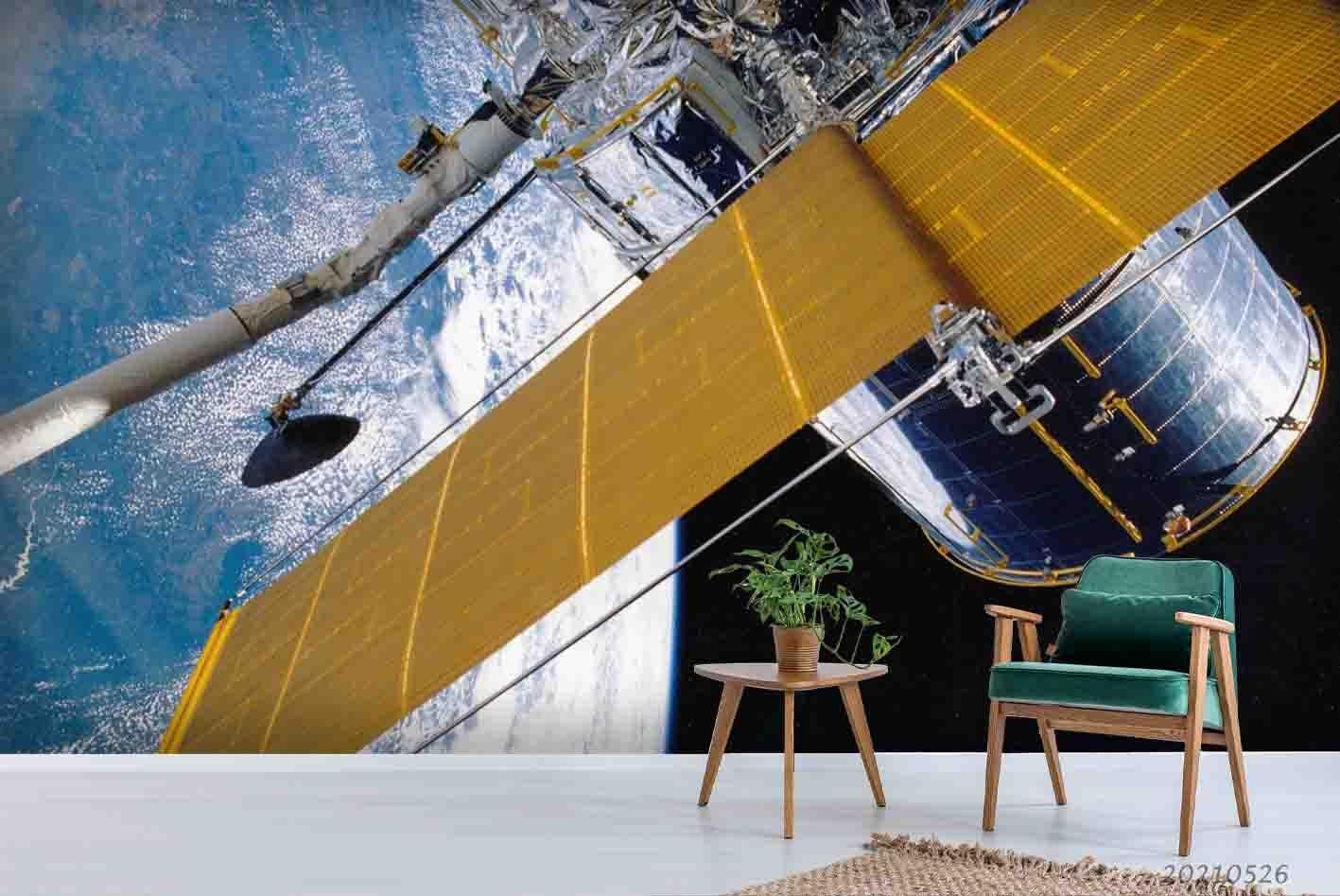 3D Universe Space Satellite Wall Mural Wallpaper SWW3923