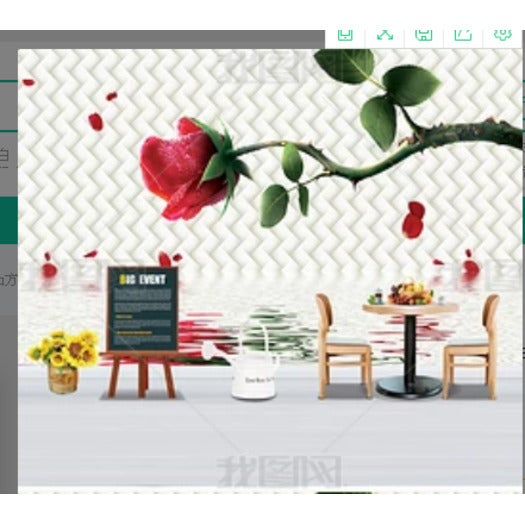 3D Wavy Rose Wall Mural Wallpaper 26