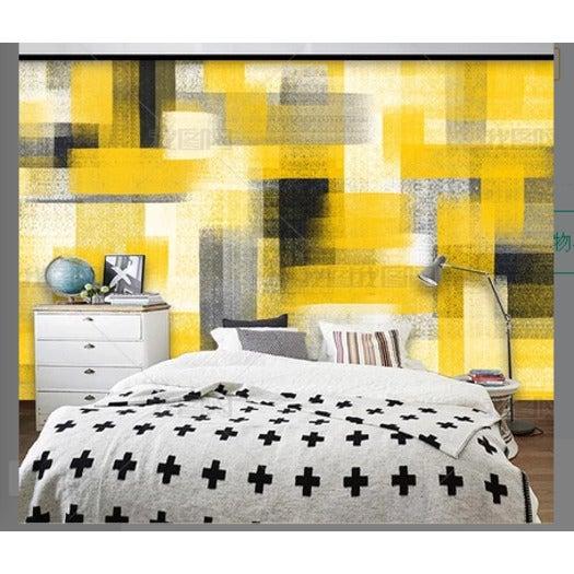 3D Yellow Watercolor Wall Mural Wallpaper 113