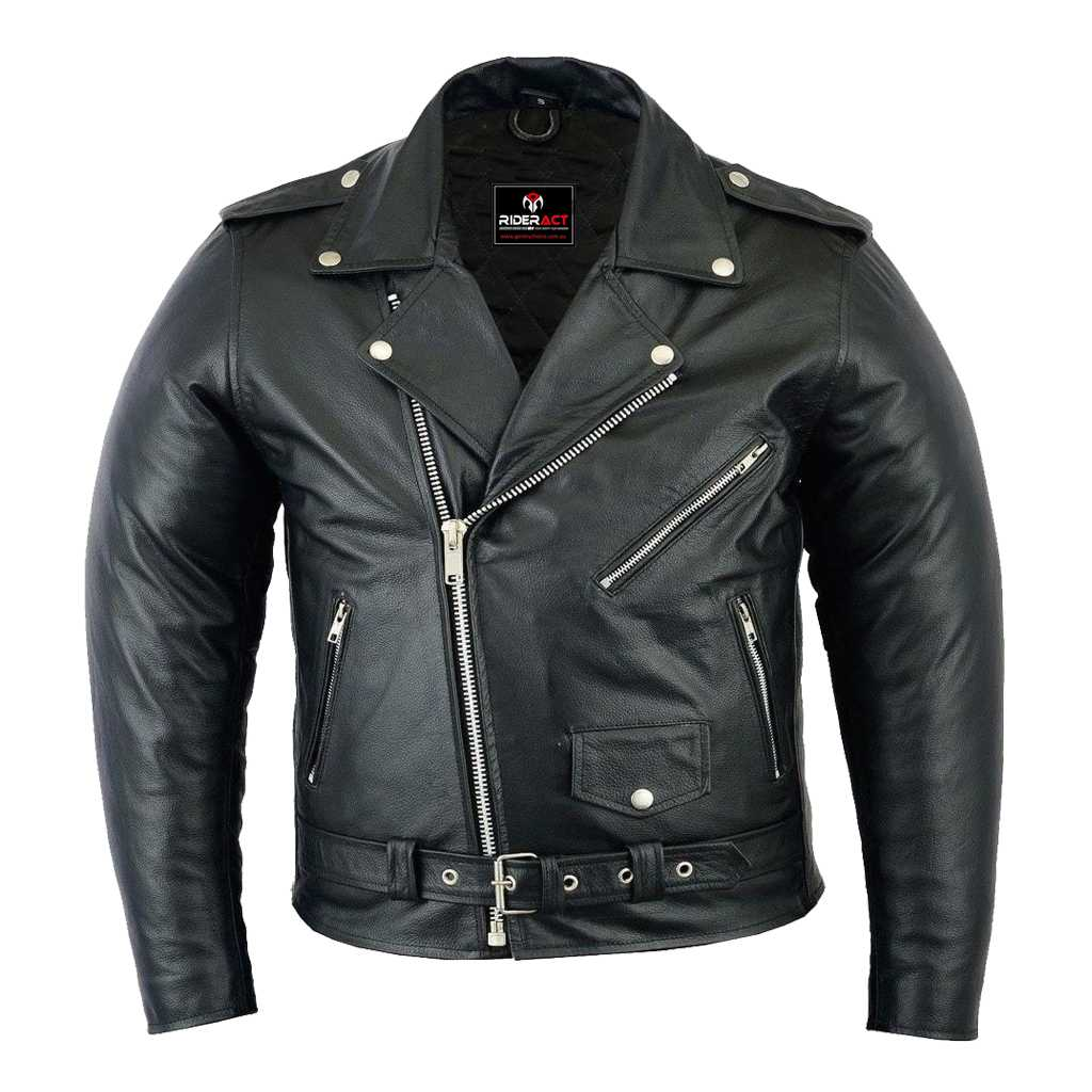RIDERACT™ Brando Style Leather Jacket Native