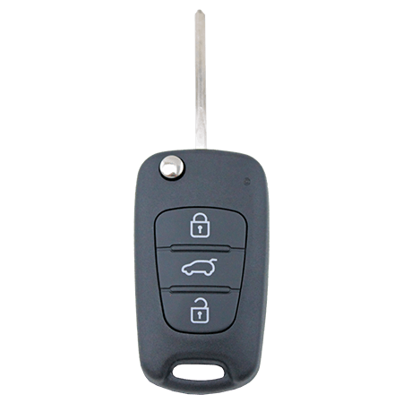 To Suit Hyundai i30 i20 Elantra 3 Button Flip Key Replacement Remote Case/Shell/Blank