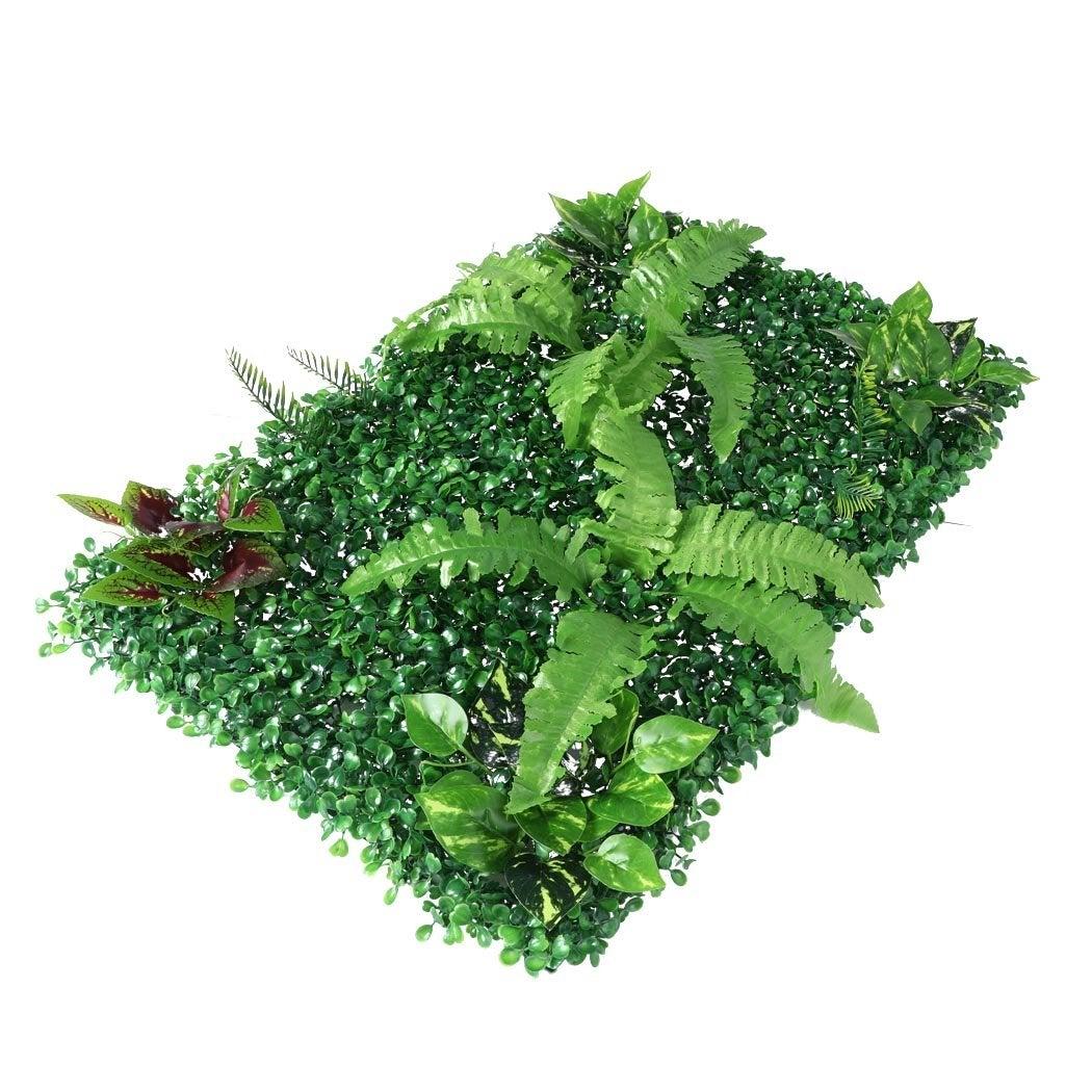 NNEIDS 4 x Artificial Hedge Grass Plant Hedge Fake Vertical Garden Green Wall Ivy Mat Fence