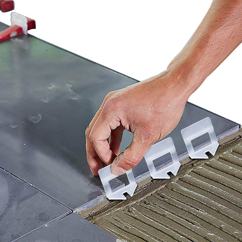 NNEIDS 600x 1.5MM Tile Leveling System Clips Levelling Spacer Tiling Tool Floor Wall