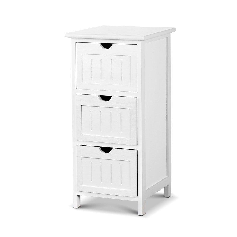 NNEDSZ Bedside Table - White
