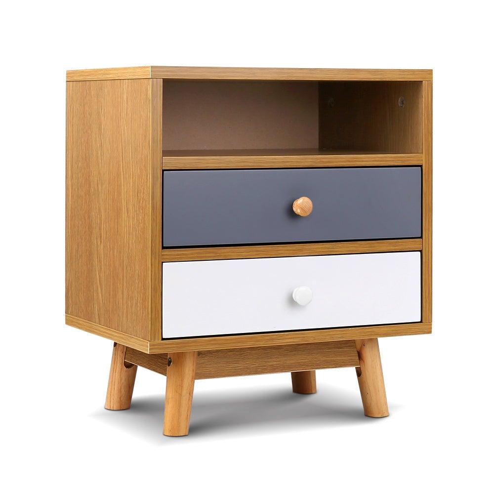 NNEDSZ Wooden Bedside Table