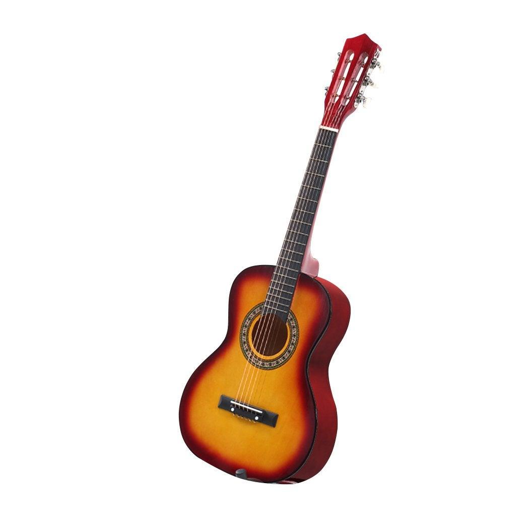 NNEIDS BoPeep 34 Inch Wooden Folk Acoustic Guitar Classical Cutaway Steel String w/ Bag