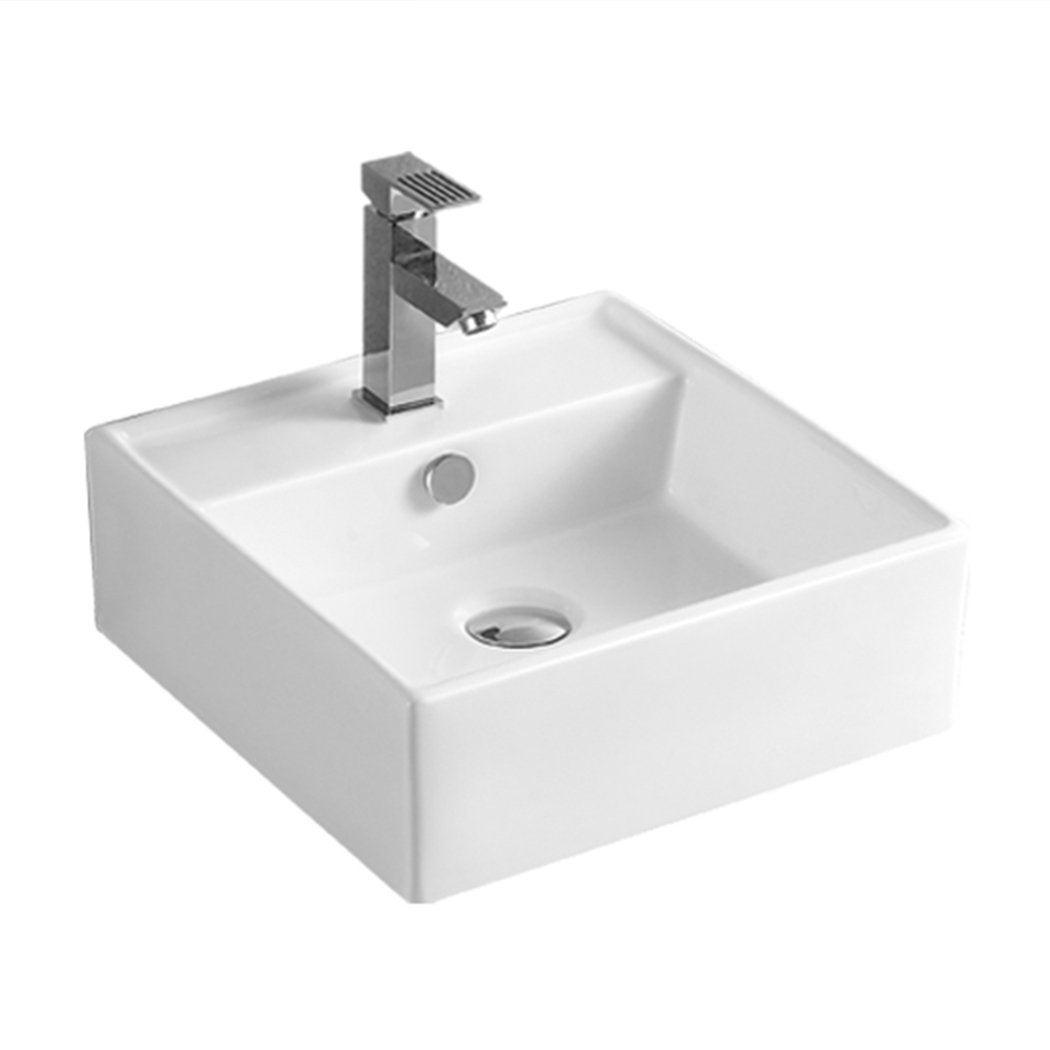 NNEIDS Ceramic Basin Bathroom Wash Counter Top Hand Wash Bowl Sink Vanity Above Basins