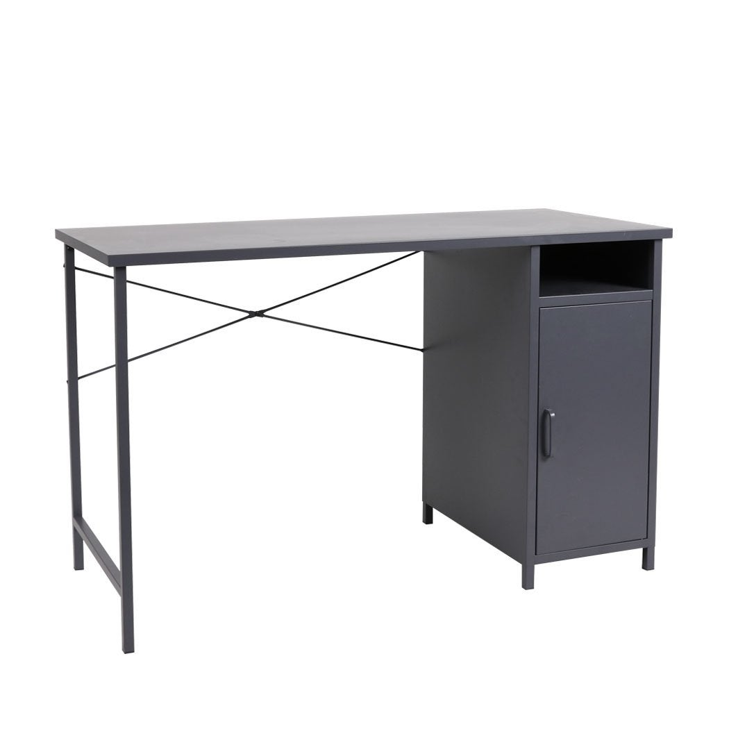 NNEIDS Office Computer Desks Metal Laptop Study Table Home Storage Workstation Shelf