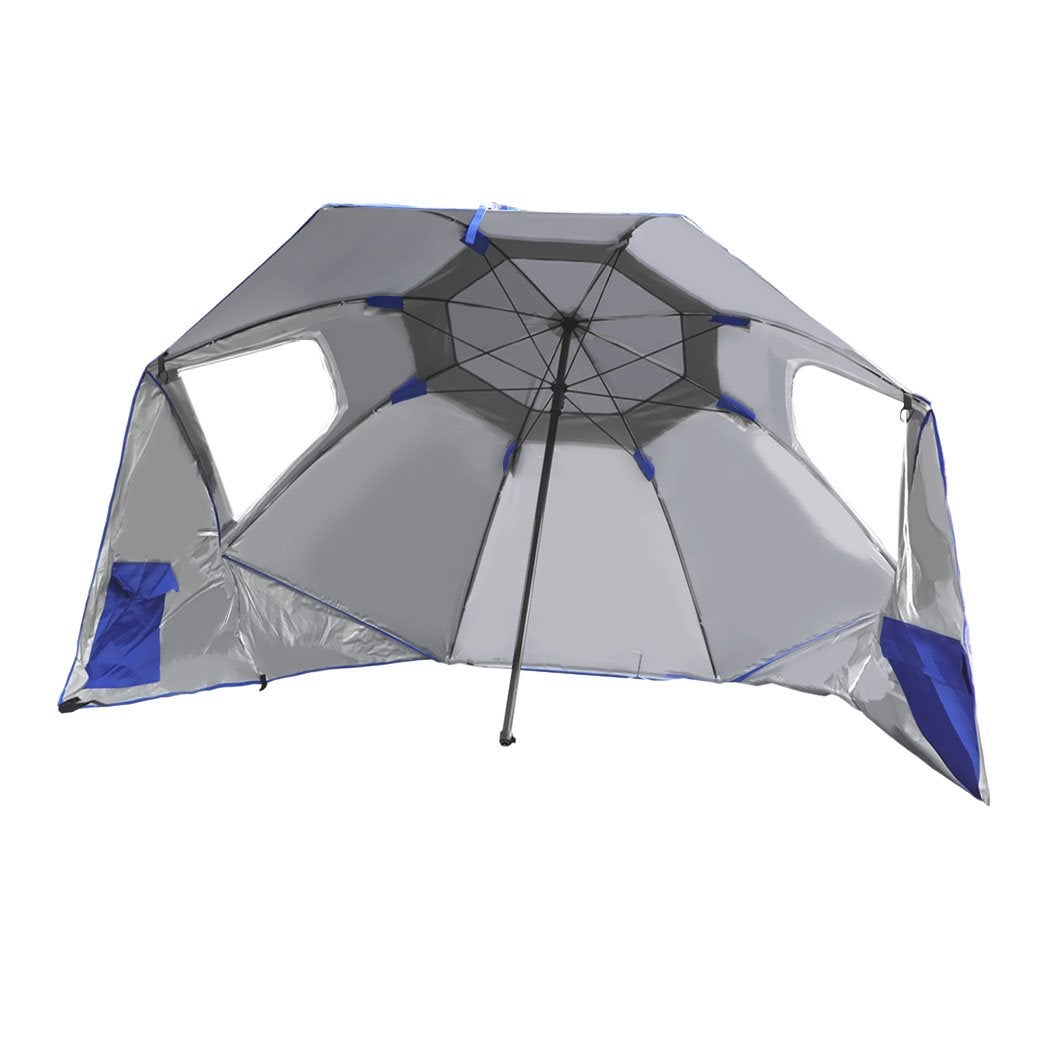 NNEIDS Outdoor Umbrella Beach Umbrellas Sun Shade Weather Patio Garden Shelter 2M Blue