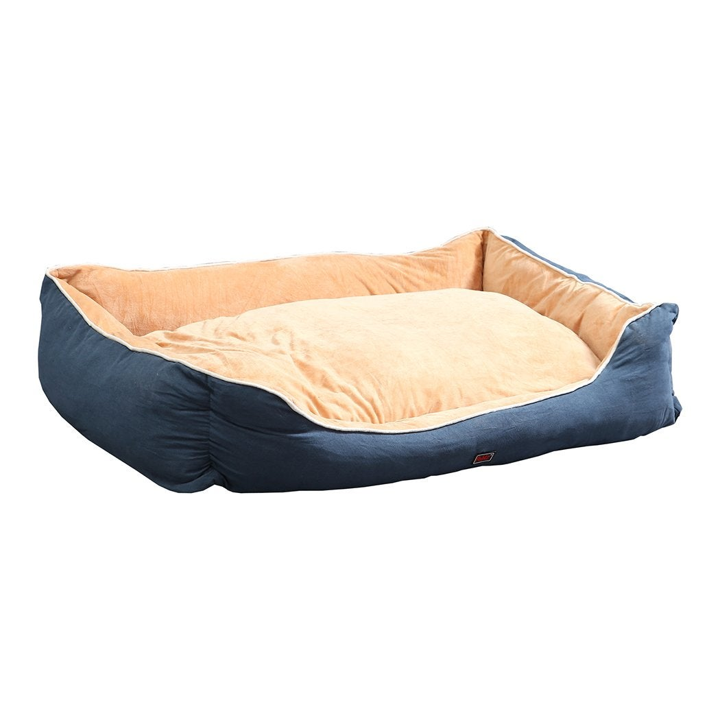 NNEIDS PaWz Pet Bed Mattress Dog Cat Pad Mat Puppy Cushion Soft Warm Washable 2XL Blue