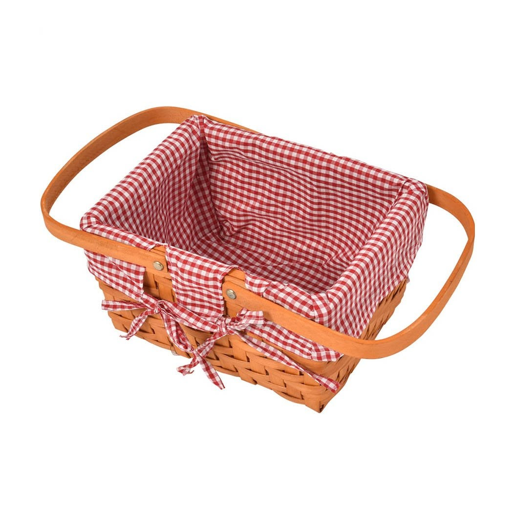 NNEIDS Picnic Basket Wicker Baskets Outdoor Deluxe Gift Storage Person Storage Carry